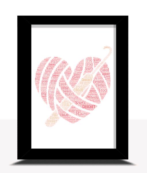 [tag] Personalised Crochet Word Art Gift