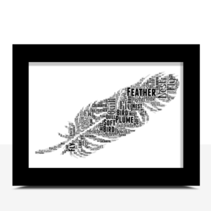 Good Luck Gifts Feather Word Art – Personalised Good Luck Gift