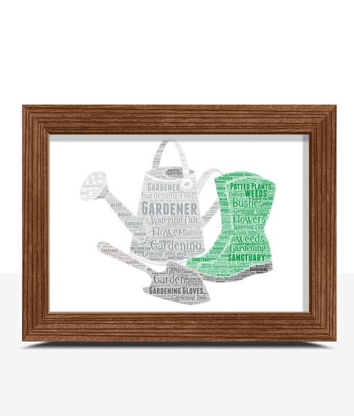 Gardening Word Art – Personalised Gardener Gift