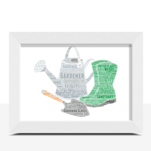 Gardening Word Art – Personalised Gardener Gift