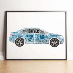 Travel Personalised Car Word Art