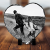Personalised Heart Shaped Rock Photo Slate – With Stand Anniversary Gifts