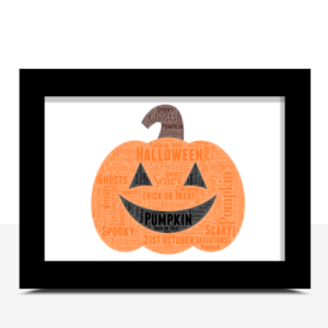 [tag] Halloween Pumpkin Word Art Print