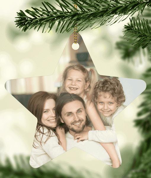 Ceramic Star – Photo Christmas Decorations Christmas