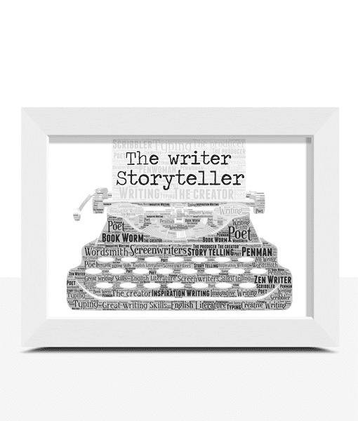 Teacher Gifts Personalised Typewriter Word Art Print