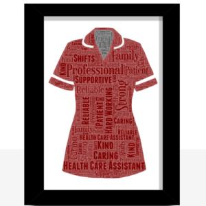 [tag] Health Care Assistant Uniform Word Art Print