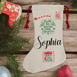 Christmas Personalised Children's Traditional Christmas Stocking