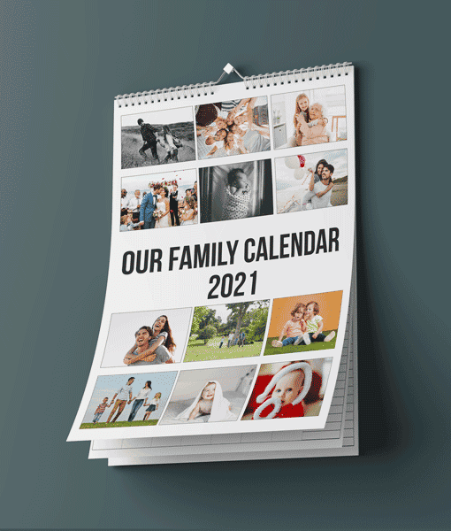 Family Personalised A3 Photo Calendar 2021