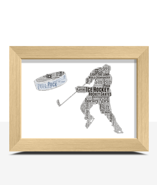 Personalised Ice Hockey Word Art Sport
