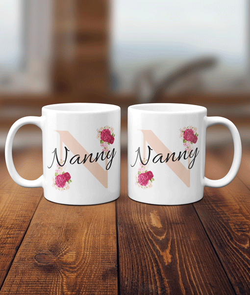 Grandparent Female Mug, Nanny, Nanna, Granny, Gran, Nan Mug Gifts For Grandparents