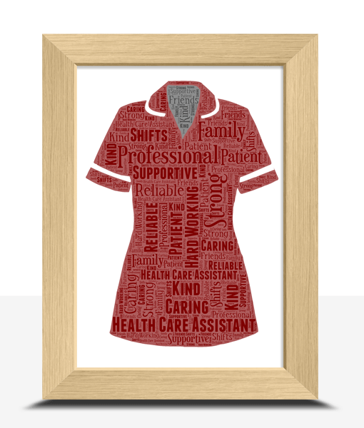 [tag] Health Care Assistant Uniform Word Art Print