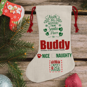 Animal Prints Personalised Pet Christmas Stocking