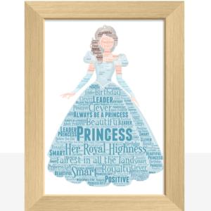 Princess Word Art Print Gifts For Children