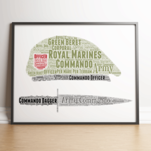 Personalised Royal Marines Word Art Military Gifts