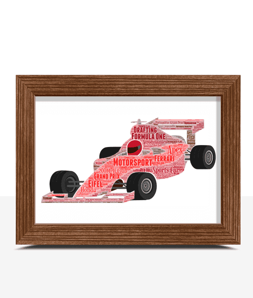 Gifts For Children Formula 1 Racing Car Word Art