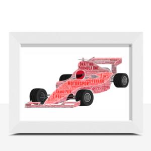 Gifts For Children Formula 1 Racing Car Word Art