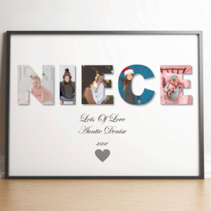 Gifts For Her Personalised NIECE Photo Gift