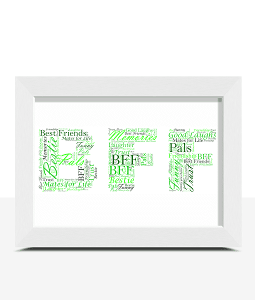 BFF Personalised Word Art Gift Gifts For Friends