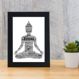Buddha Personalised Word Art Print