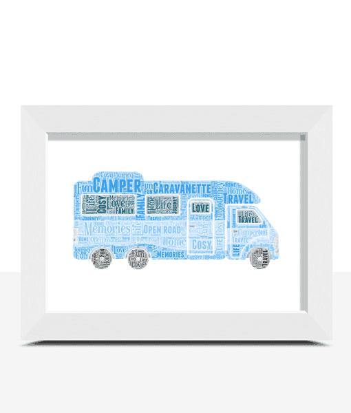 Personalised Caravanette Camper Word Art Travel