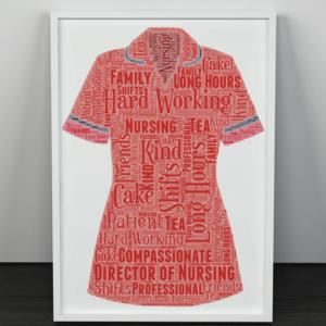 Director Of Nursing Personalised Word Art