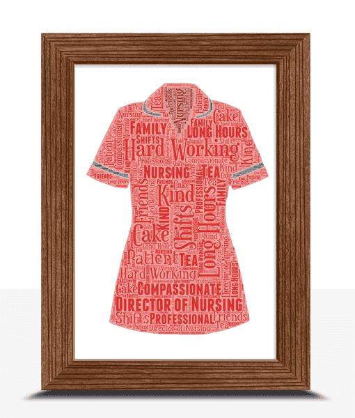 Director Of Nursing Personalised Word Art Gift
