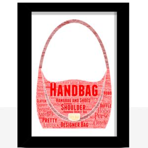 Personalised Handbag Word Art Print Gifts For Her