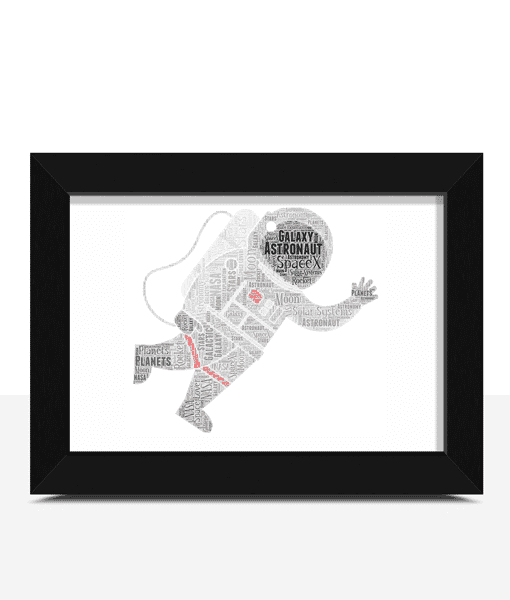 Personalised Astronaut Word Art Print Gifts For Children