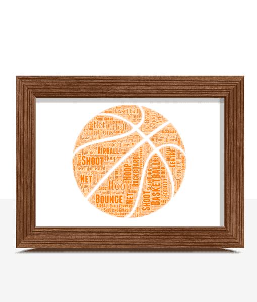 Sport Personalised Basketball Word Art