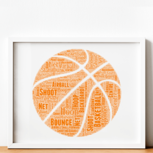 Personalised Basketball Word Art Sport