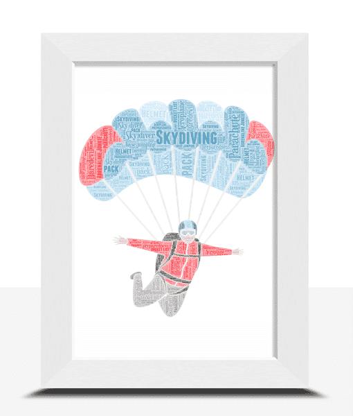 Skydiving Personalised Word Art – Skydiver Gift Sport Gifts