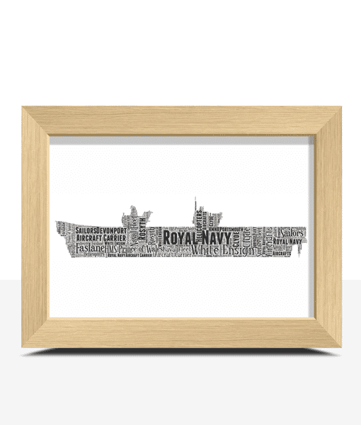 Royal Navy Aircraft Carrier Word Art Military Gifts