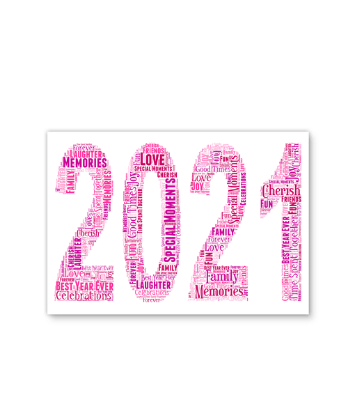 ANY Year – Personalised Word Art Print