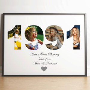 ANY Year – Personalised Photo Print Anniversary Gifts