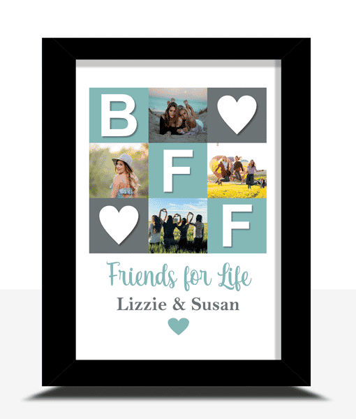 BFF – Personalised Photo Collage – Best Friend Gift Gifts For Friends