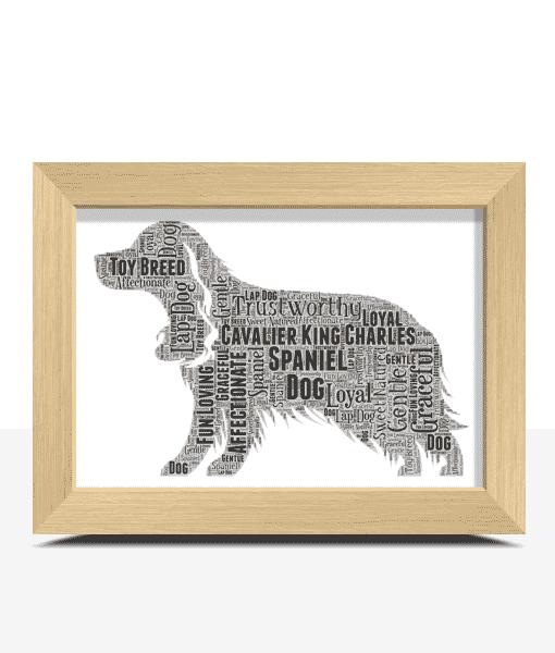 Personalised Cavalier King Charles Spaniel Dog – Word Art Animal Prints