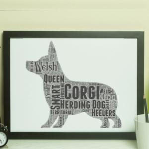 Personalised Corgi Dog – Word Art Animal Prints