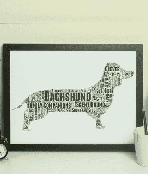 Personalised Dachshund – Sausage Dog – Word Art Animal Prints