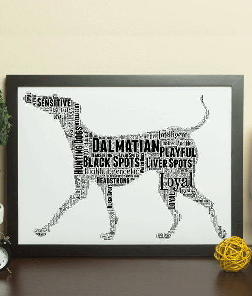 Personalised Dalmatian Dog – Word Art Animal Prints