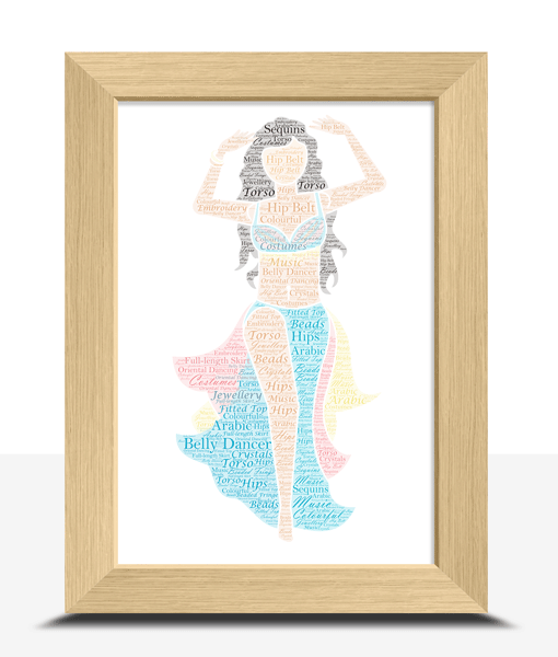 Female Belly Dancer – Personalised Word Art Gift Dance