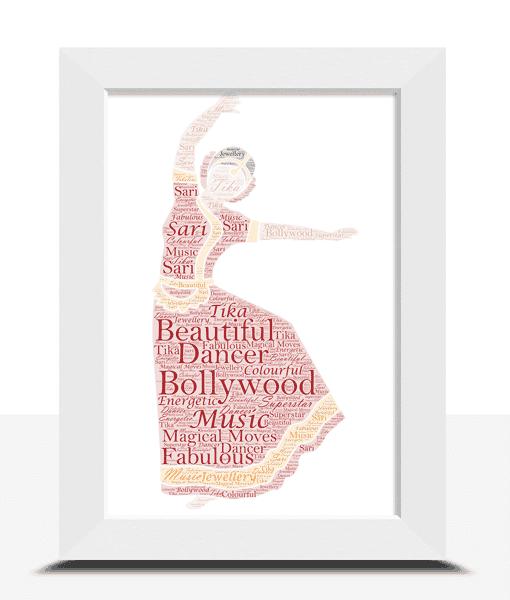 Female Bollywood Dancer – Personalised Word Art Gift Dance