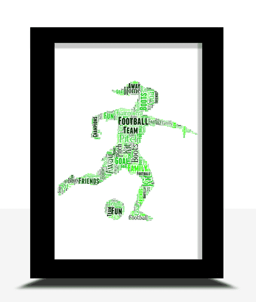Female Football Player Gift – Personalised Word Art Football Gifts