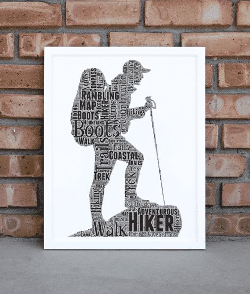 Hiker – Walker – Rambler – Personalised Word Art Gift Sport