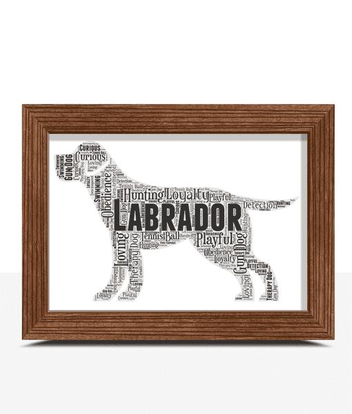 Personalised Labrador Dog – Word Art Animal Prints