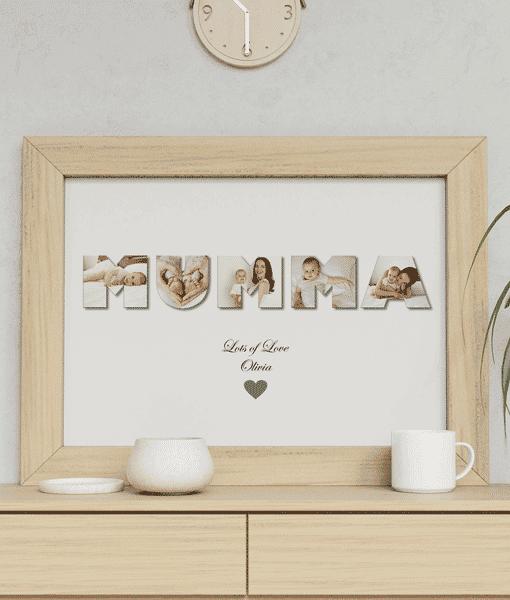 Personalised MUMMA Photo Gift Gifts For Mum