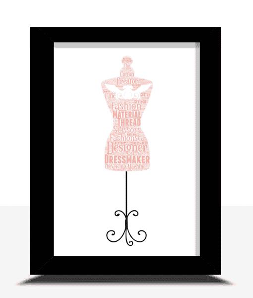 Mannequin Word Art – Personalised Dressmaker Gift
