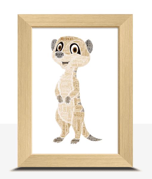 Personalised Meerkat Word Art Print Animal Prints