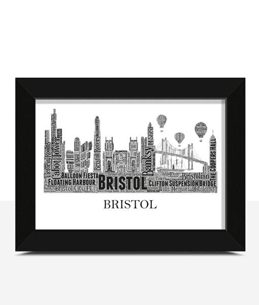 Personalised Bristol Skyline Word Art City Skyline Prints