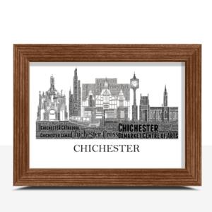 Personalised Chichester Skyline Word Art City Skyline Prints
