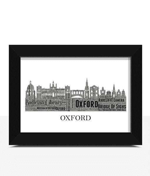 Personalised Oxford Skyline Word Art City Skyline Prints